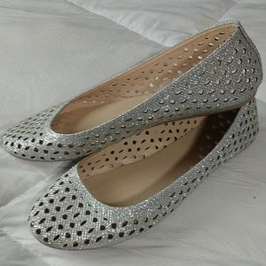 Shoes - Silver flats